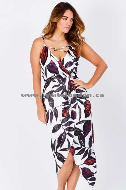 Womens 3rd Love Amiah Drape Dress Print - Floral, Prints Canada Sale