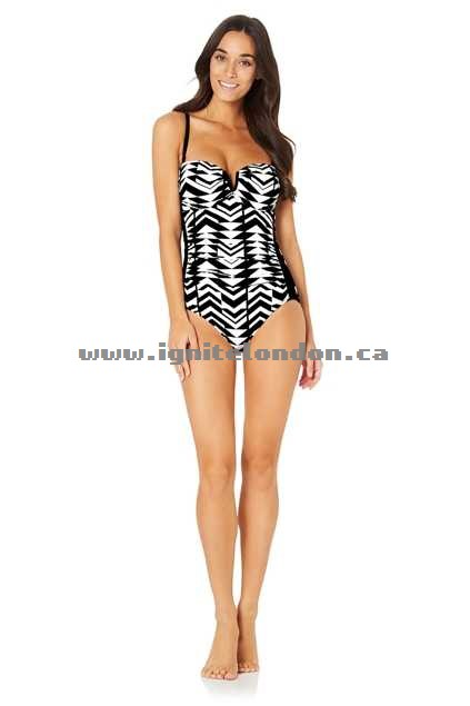 Womens Baku Tribeca D/dd Bandeau Maillot Black - Stretch, Monochrome, Prints Clearance