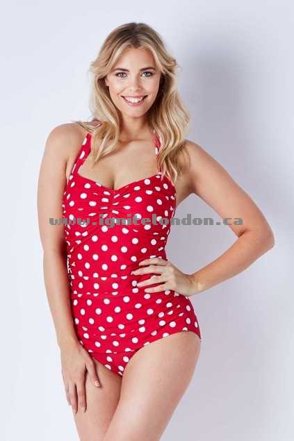 Womens Bella Bathers The Marilyn One Piece BlackMesh - Stretch, Prints, Spots Sale Online Canada
