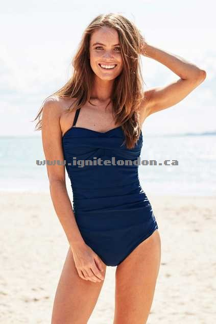 Womens Bella Bathers The Sophia One Piece FrenchNavy - Plain Colour, Stretch Online Shop Canada