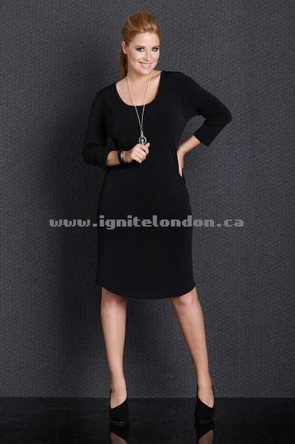 Womens Belle bird Belle Base Layer Dress Black - Stretch, Plain Colour New Style
