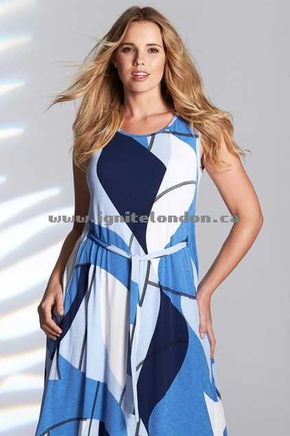 Womens Belle bird Belle Belted Abstract Print Maxi Blue - Prints, Stretch Outlet Stores