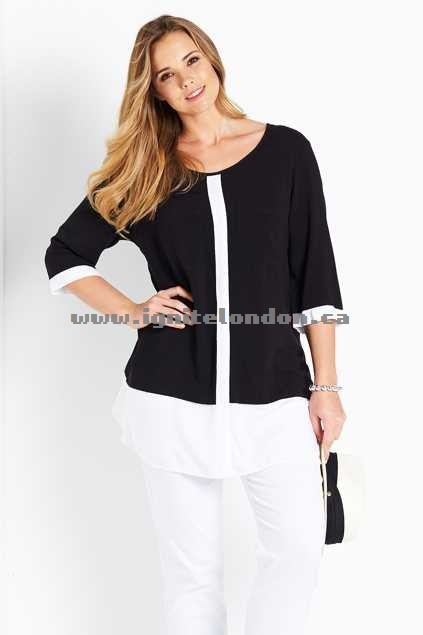 Womens Belle bird Belle Colour Block Tunic BlackWhite - Prints, Monochrome Factory Price