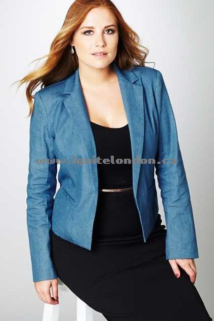 Womens Belle bird Belle Denim Jacket Solid - Plain Colour, Chambray Cheap Price