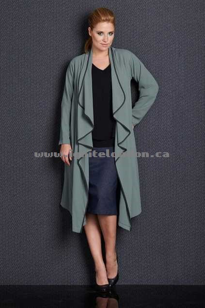 Womens Belle bird Belle Drape Coat DuckEgg - Textured, Plain Colour, Stretch Great Deals 2018