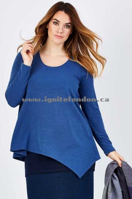 Womens Belle bird Belle Forgiver Sweater BlueJeans - Plain Colour, Stretch Buy