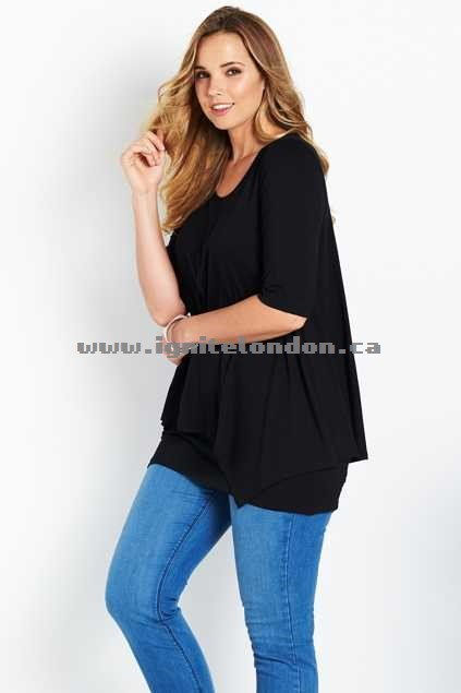 Womens Belle bird Belle Half Sleeve Forgiver Tunic Ballet - Plain Colour, Stretch Fashion Style