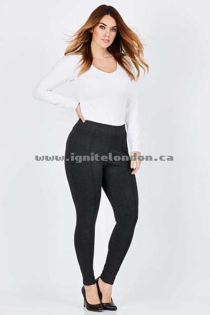 Womens Belle bird Belle Luxe Twill Jegging Grey - Stretch, Plain Colour Wholesale Trade