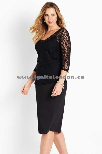 Womens Belle bird Belle Scalloped Lace Top Black - Lace, Plain Colour Wholesale