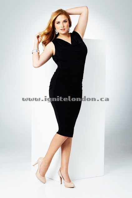 Womens Belle bird Belle Slim Control Dress Black - Plain Colour, Stretch Outlet Online Canada
