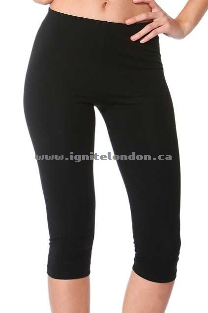 Womens Betty Basics Beyonce 3/4 Leggings Black - Plain Colour, Stretch For Cheap