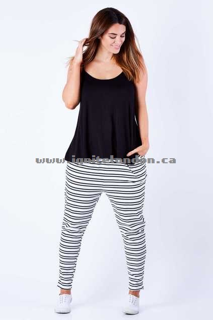Womens Betty Basics Jade Pant BlkGreyWht - Prints, Stretch, Stripes Website Canada