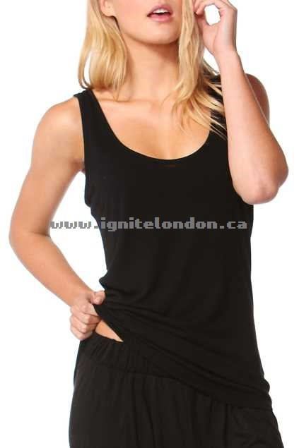 Womens Betty Basics Miami Stretch Singlet Black - Stretch, Stripes, Prints Wholesale Trade