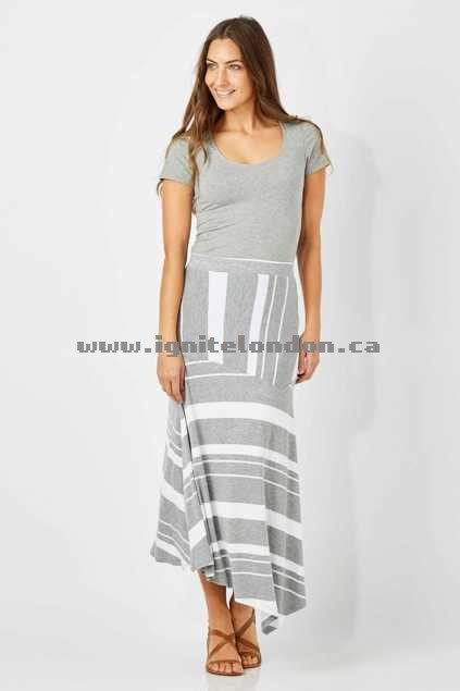 Womens Betty Basics Petra Skirt PetrolSilv - Prints, Stripes, Stretch For Cheap