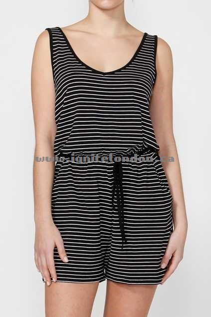 Womens Betty Basics Venice Playsuit Black - Plain Colour, Stretch, Stripes Lowest Price