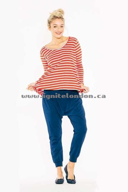 Womens Boom Shankar Moni Top StripeBlue - Stretch, Stripes, Prints Online