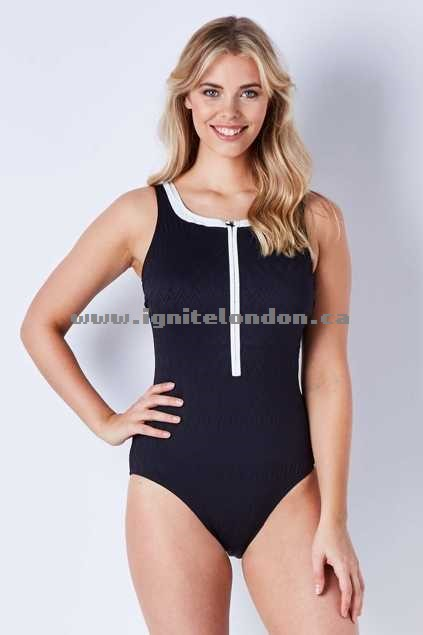 Womens Capriosca Zip Front One Piece Classique - Plain Colour, Stretch, Textured, Prints Special Sales