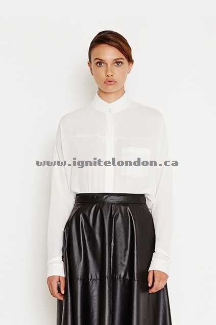 Womens Cooper St Love And Hate Shirt White - Plain Colour, Sheer Store Canada