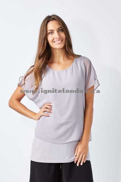 Womens Cordelia St Overlay Top Mocha - Plain Colour, Pastel, Stretch Online