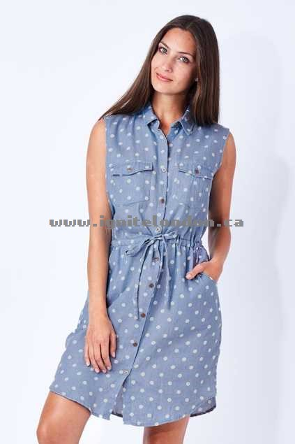 Womens Elm Penny Shirt Dress Chambray - Prints, Spots New Arrivals