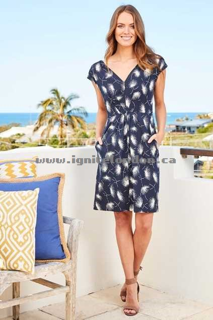 Womens Emily and Fin Jade Dress FestveFire - Prints, Floral Factory Price