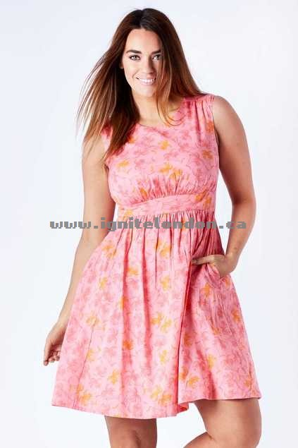 Womens Emily and Fin Lucy Dress PinkPalm - Prints, Floral Get Cheap