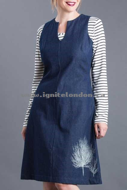 Womens Essaye 2 Trees Denim Tunic NatIndigo - Prints Canada Online Shop