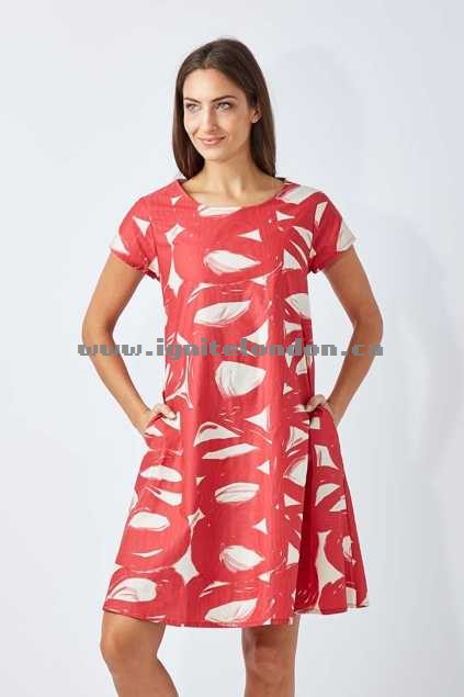 Womens Essaye Olive Dress ChinoRasp - Prints Online Sale