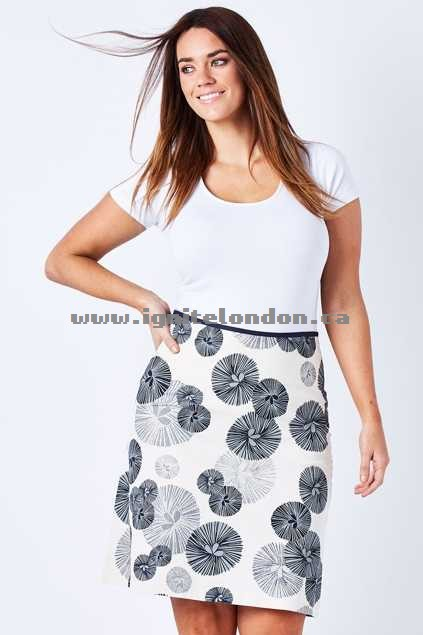 Womens Essaye Soov Aline Skirt InkSmoke - Prints Fashion