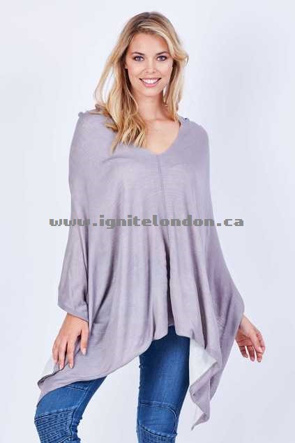 Womens Fate Prudence Reversible Knit SilverPea - Plain Colour, Knit 100% Quality Guarantee