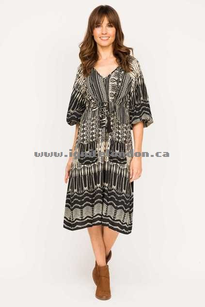 Womens Firefly Allanah Dress LineBlack - Prints Outlet Factory