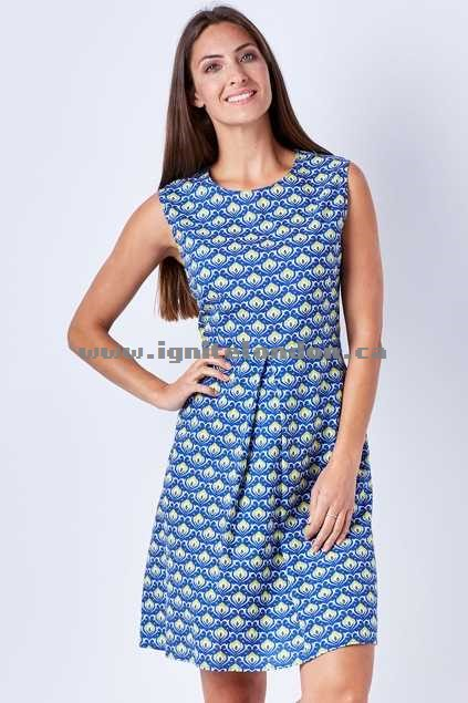 Womens Firefly Allyssa Dress BulbBlue - Prints Website Canada