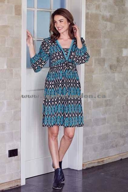 Womens Firefly Belle Dress AztecAqua - Prints Outlet Canada