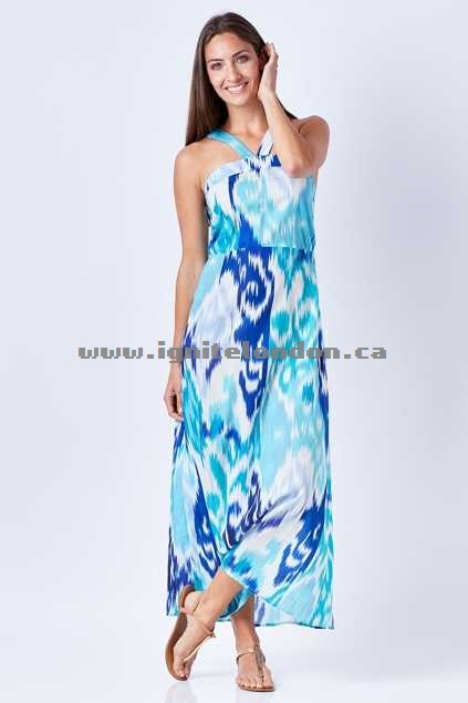 Womens Firefly Jasmine Maxi Dress IkatNavy - Prints Discount