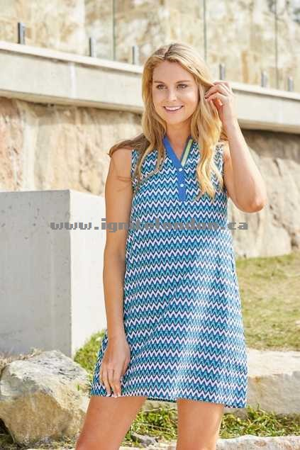 Womens Firefly Katy Cotton Chevron Dress Multi - Prints Online Shop Canada