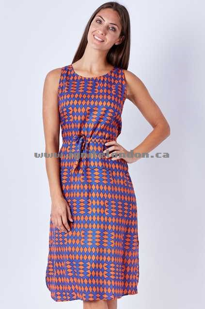 Womens Firefly Mila Dress PicnicBlue - Prints Outlet Online Canada