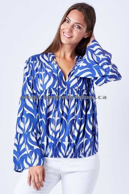 Womens Firefly Sasha Top LotusBlue - Plain Colour, Prints Lowest Price