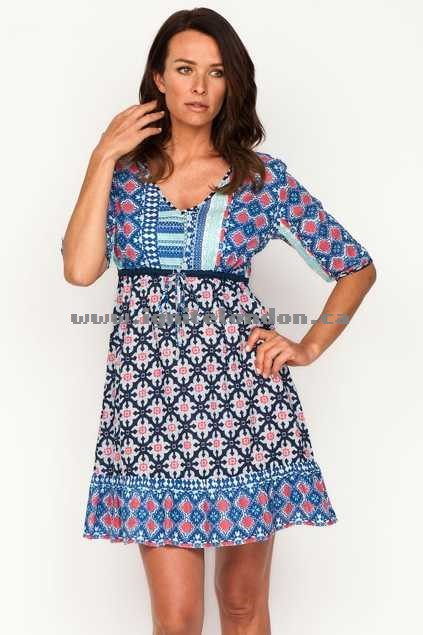 Womens Firefly Tyra Dress MoroccNavy - Prints Sale Online Canada