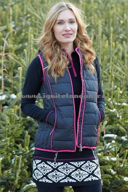 Womens Hatley Poly Fill Vest BlackSno - Padded, Prints Online Sale