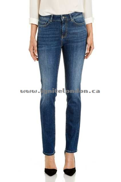 Womens JAG The Bianca High Rise Slim Straight BalticBlue - Sale Online Canada