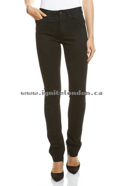 Womens JAG The Bianca High Rise Slim Straight Black - Stretch Last 2018