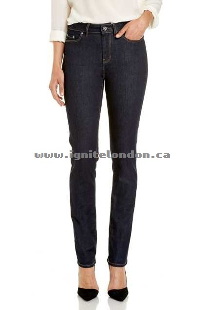 Womens JAG The Bianca High Rise Slim Straight RawRinse - Stretch, Plain Colour Sale