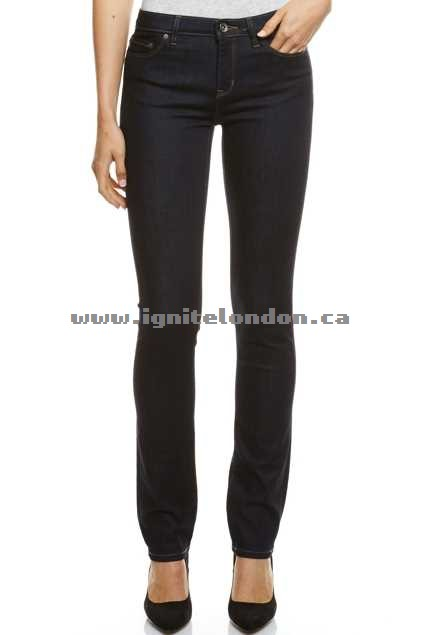 Womens JAG The Jamie Mid Rise Slim Straight RawRinse - Plain Colour Online Sale