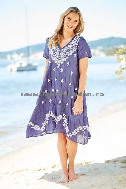 Womens Lula Soul Romance Dress Indigo - Embroidered, Embellished, Prints, Floral Great Deals 2018