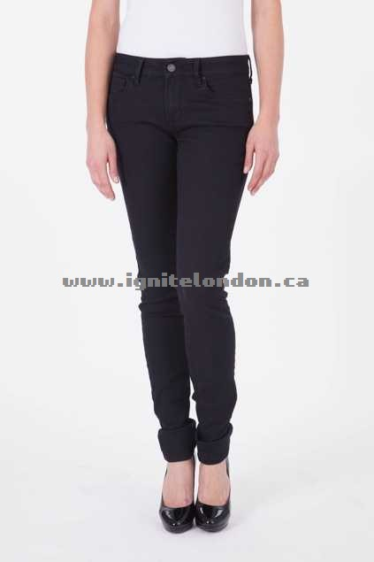 Womens Mavi Alexa Mid Rise Super Skinny Jeans Black - Plain Colour New Arrivals