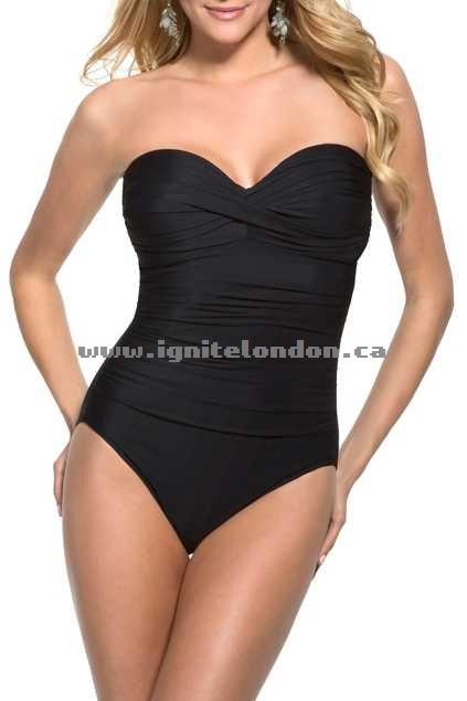 Womens Miraclesuit Barcelona One Piece Black - Stretch, Plain Colour Outlet Factory