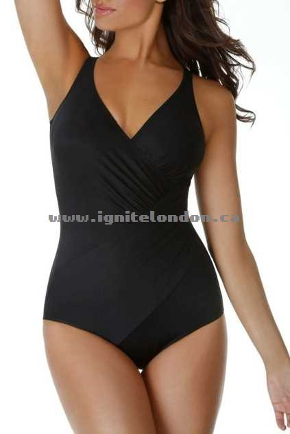 Womens Miraclesuit Oceanus One Piece Black - Stretch, Plain Colour 2018 New