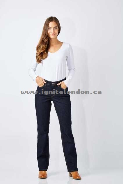 Womens Not Your Daughters Jeans Marilyn Straight Jeans DarkEnzyme - Plain Colour, Stretch Clearance