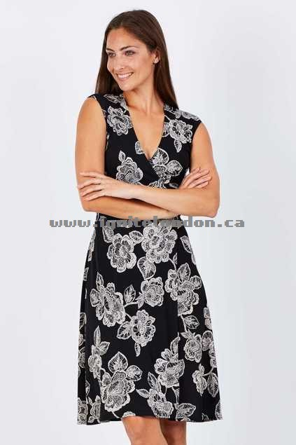 Womens Rebecca Ruby Trixy Wrap Dress Black - Prints Sale