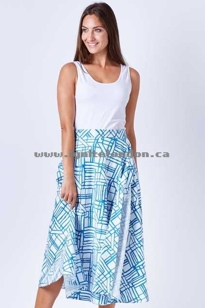 Womens Sacha Drake Kinda Magic Wrap Midi Skirt SkyWhite - Prints Cheap Price